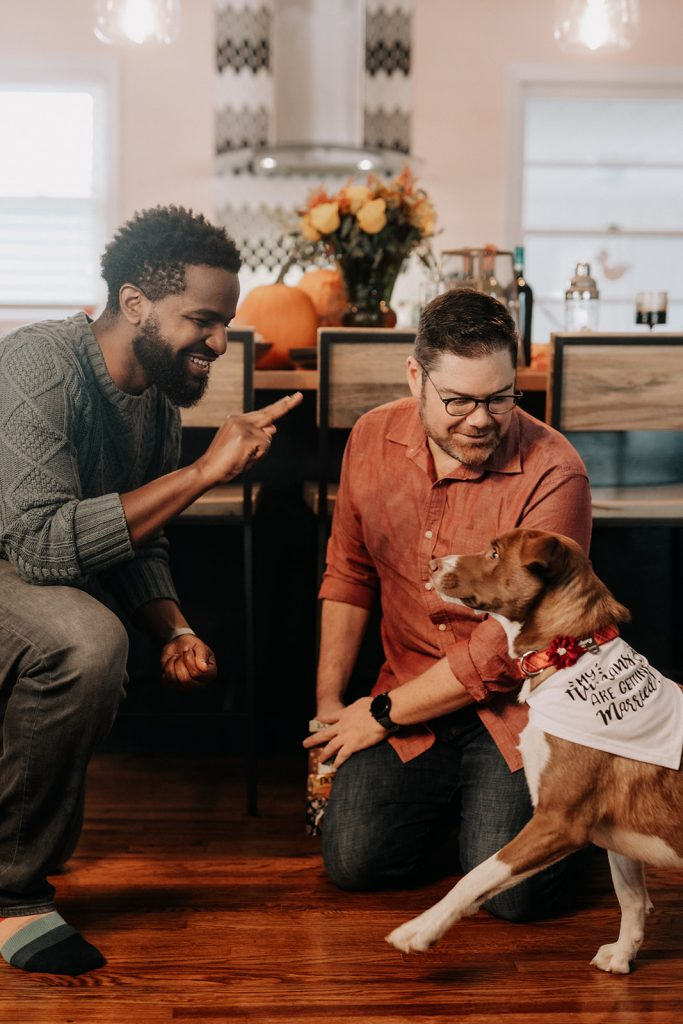 two gays and dog