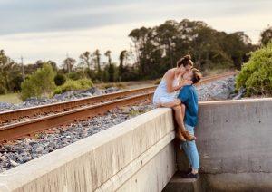 kissing near railway