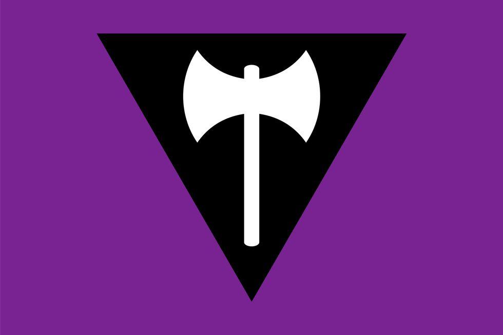 Lesbian Labrys Flag
